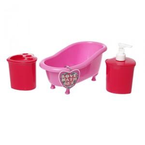 Bathroom Set Love Heart Design