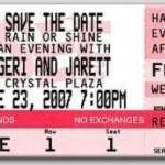 Custom Concert Ticket Invitations