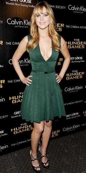 O Vestido Verde de Jennifer Lawrence