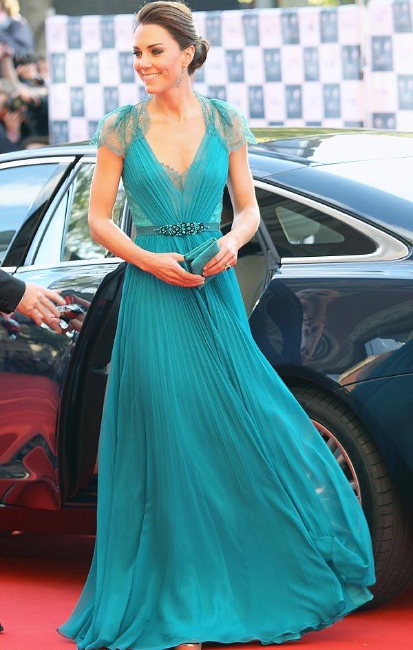 Kate Middleton arrasa de Jenny Packham
