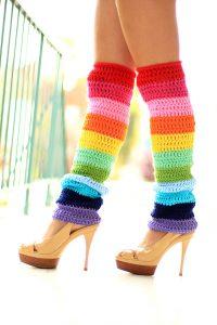 Double Rainbow Leg Warmer