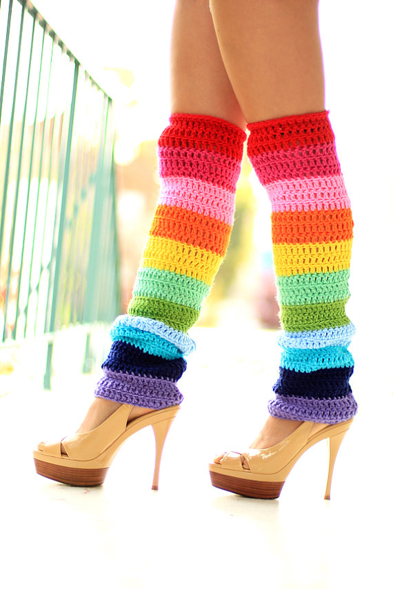 Double Rainbow Leg Warmer