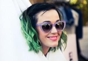 O cabelo verde de Katy Perry