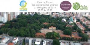 Feira de trocas We Change na Virada Sustentável