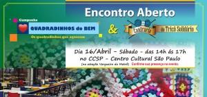 Encontro aberto: Quadradinhos do Bem & Confraria do Tricô Solidário