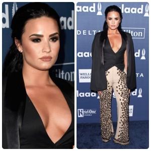 O look de Demi Lovato no GLAAD Media Awards