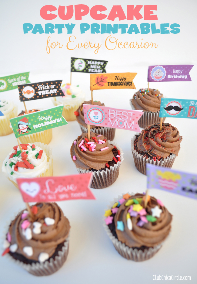 cupcake-party-flags-@clubchicacircle-for-every-occasion